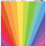 Ella and Viv Paper Company - Rainbow Connection Collection - 12 x 12 Paper - Six