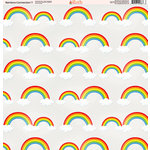 Ella and Viv Paper Company - Rainbow Connection Collection - 12 x 12 Paper - Seven