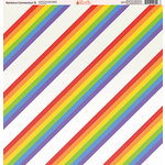 Ella and Viv Paper Company - Rainbow Connection Collection - 12 x 12 Paper - Eight