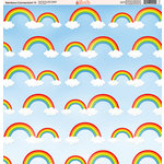 Ella and Viv Paper Company - Rainbow Connection Collection - 12 x 12 Paper - Eleven