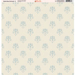 Ella and Viv Paper Company - Slate Blue Damask Collection - 12 x 12 Paper - Two