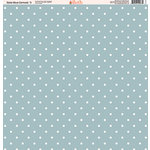 Ella and Viv Paper Company - Slate Blue Damask Collection - 12 x 12 Paper - Three