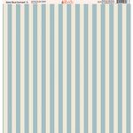 Ella and Viv Paper Company - Slate Blue Damask Collection - 12 x 12 Paper - Five