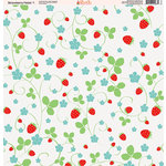 Ella and Viv Paper Company - Strawberry Fields Collection - 12 x 12 Paper - One
