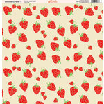 Ella and Viv Paper Company - Strawberry Fields Collection - 12 x 12 Paper - Two