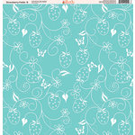 Ella and Viv Paper Company - Strawberry Fields Collection - 12 x 12 Paper - Eight