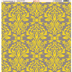 Ella and Viv Paper Company - Sunshine Damask Collection - 12 x 12 Paper - Two