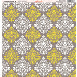 Ella and Viv Paper Company - Sunshine Damask Collection - 12 x 12 Paper - Eight