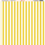 Ella and Viv Paper Company - Sunshine Damask Collection - 12 x 12 Paper - Eleven