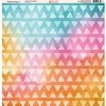 Ella and Viv Paper Company - Tribal Tie Dye Collection - 12 x 12 Paper - One
