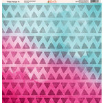 Ella and Viv Paper Company - Tribal Tie Dye Collection - 12 x 12 Paper - Six