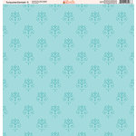 Ella and Viv Paper Company - Turquoise Damask Collection - 12 x 12 Paper - Three