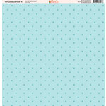 Ella and Viv Paper Company - Turquoise Damask Collection - 12 x 12 Paper - Four