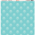 Ella and Viv Paper Company - Turquoise Damask Collection - 12 x 12 Paper - Seven