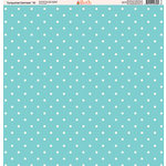 Ella and Viv Paper Company - Turquoise Damask Collection - 12 x 12 Paper - Ten