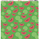 Ella and Viv Paper Company - Watermelon Fresca Collection - 12 x 12 Paper - One