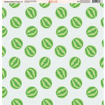 Ella and Viv Paper Company - Watermelon Fresca Collection - 12 x 12 Paper - Eight