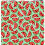 Ella and Viv Paper Company - Watermelon Fresca Collection - 12 x 12 Paper - Eleven