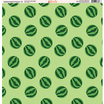 Ella and Viv Paper Company - Watermelon Fresca Collection - 12 x 12 Paper - Twelve