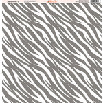 Ella and Viv Paper Company - Zebra Party Collection - 12 x 12 Paper - Three