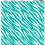 Ella and Viv Paper Company - Zebra Party Collection - 12 x 12 Paper - Seven