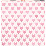 Ella and Viv Paper Company - Watercolor Kisses Collection - 12 x 12 Paper - Three