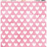 Ella and Viv Paper Company - Watercolor Kisses Collection - 12 x 12 Paper - Five