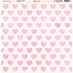 Ella and Viv Paper Company - Watercolor Kisses Collection - 12 x 12 Paper - Nine