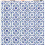 Ella and Viv Paper Company - Deep Blue Mosaic Collection - 12 x 12 Paper - Four