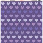 Ella and Viv Paper Company - Purple Passion Collection - 12 x 12 Paper - Three