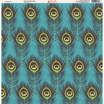 Ella and Viv Paper Company - Peacock Collection - 12 x 12 Paper - One