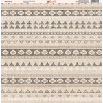 Ella and Viv Paper Company - Aztec Linen Collection - 12 x 12 Paper - Two