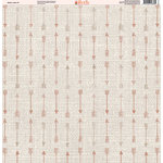 Ella and Viv Paper Company - Aztec Linen Collection - 12 x 12 Paper - Four