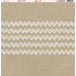 Ella and Viv Paper Company - Aztec Linen Collection - 12 x 12 Paper - Five