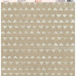 Ella and Viv Paper Company - Aztec Linen Collection - 12 x 12 Paper - Seven