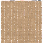 Ella and Viv Paper Company - Aztec Linen Collection - 12 x 12 Paper - Eight