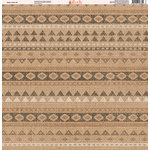 Ella and Viv Paper Company - Aztec Linen Collection - 12 x 12 Paper - Nine