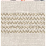 Ella and Viv Paper Company - Aztec Linen Collection - 12 x 12 Paper - Eleven