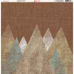 Ella and Viv Paper Company - Aztec Linen Collection - 12 x 12 Paper - Twelve