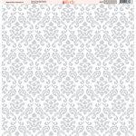 Ella and Viv Paper Company - Magical Dots and Damask Collection - 12 x 12 Paper - Seven