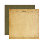 Reminisce - Expedition Destination Collection - 12 x 12 Double Sided Paper - Visas