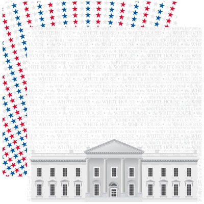 Reminisce - The 4th Collection - 12 x 12 Double Sided Paper - The White House