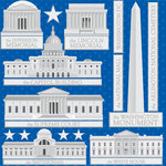 Reminisce - DC Collection - 12 x 12 Cardstock Stickers - Buildings