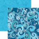 Reminisce - Frosted Collection - 12 x 12 Double Sided Paper - Frosty Wind