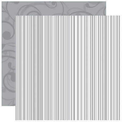 Reminisce - Graduation Celebration Collection - 12 x 12 Double Sided Shimmer Paper - Graduation Stripe