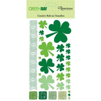 Reminisce - Green Day - St. Patrick's Day - Creative Rub On Transfers - Shamrocks, CLEARANCE