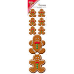 Reminisce - Gingerbread Lane Collection - Christmas - Chipboard Stickers - Gingerbread Men