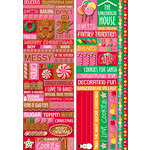 Reminisce - Gingerbread Lane Collection - Christmas - Die Cut Cardstock Stickers - Quote