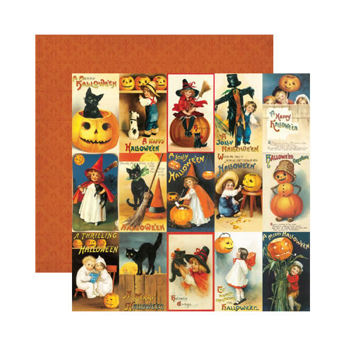 Reminisce - Hallowe'en Collection - 12 x 12 Double Sided Paper - Hallowe'en Greetings