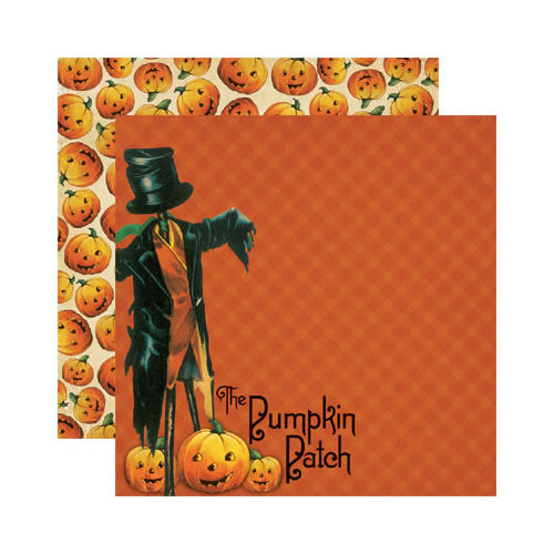 Reminisce - Hallowe'en Collection - 12 x 12 Double Sided Paper - Pick of the Patch